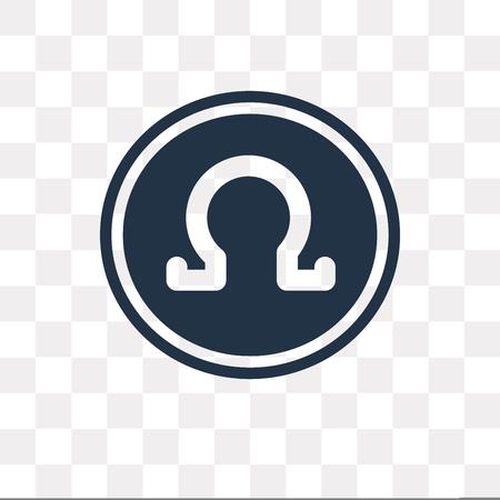 Omega vector pictogram geïsoleerd op transparante achtergrond, Omega transparantie concept kunnen gebruikte web en mobiel