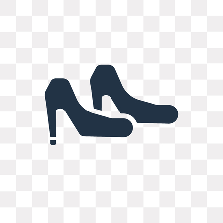 High heels vector icon isolated on transparent background, High heels transparency concept can be used web and mobile