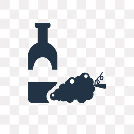 Wine vector icon isolated on transparent background, Wine transparency concept can be used web and mobile