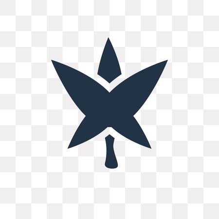 Marijuana vector icon isolated on transparent background, Marijuana transparency concept can be used web and mobile Ilustração
