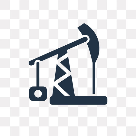 Pump jack vector icon isolated on transparent background, Pump jack transparency concept can be used web and mobile Illustration