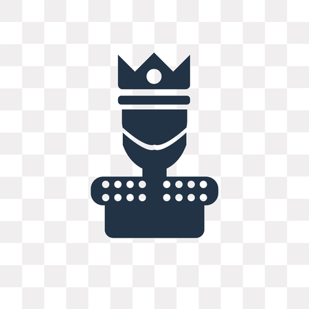 King vector icon isolated on transparent background, King transparency concept can be used web and mobile Ilustração