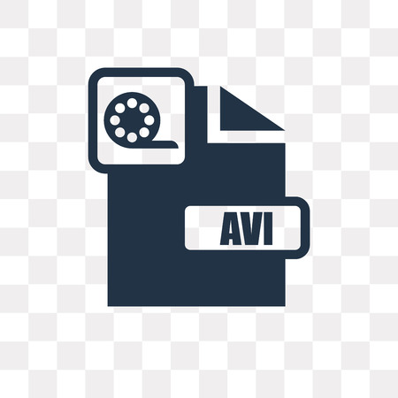Avi vector icon isolated on transparent background, Avi transparency concept can be used web and mobile
