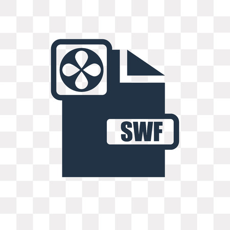 Swf vector icon isolated on transparent background, Swf transparency concept can be used web and mobile Illustration