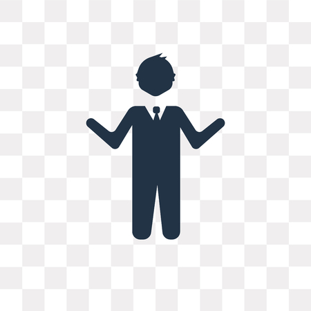 Teacher vector icon isolated on transparent background, Teacher transparency concept can be used web and mobile