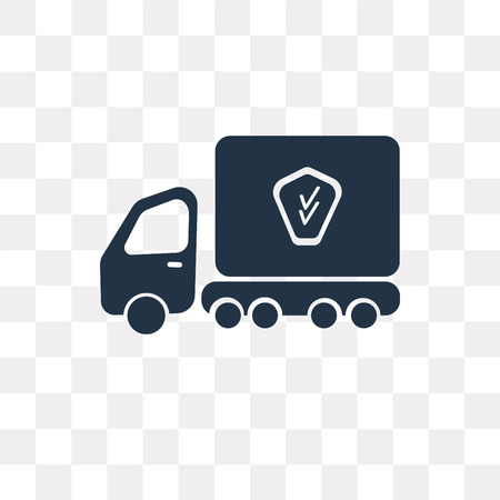 Transport vector icon isolated on transparent background, Transport transparency concept can be used web and mobile