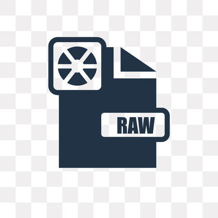 Raw vector icon isolated on transparent background, Raw transparency concept can be used web and mobile