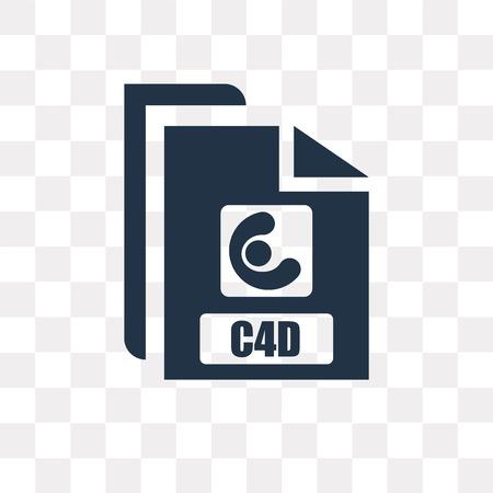 Icône de vecteur C4d isolé sur fond transparent, la notion de transparence C4d peut être utilisé web et mobile Vecteurs