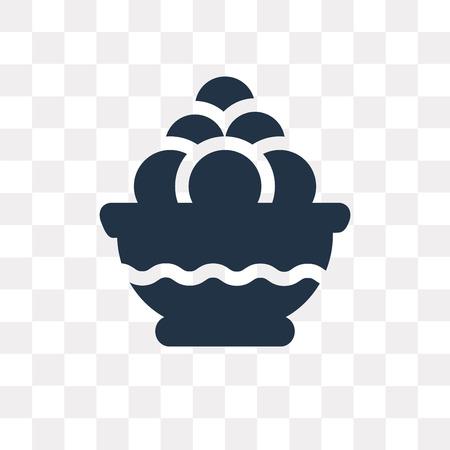 Icono de vector de Laddu aislado sobre fondo transparente, concepto de transparencia de Laddu puede ser usado de la web y móvil Ilustración de vector
