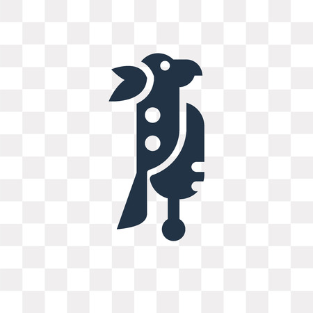 Parrot vector icon isolated on transparent background, Parrot transparency concept can be used web and mobile Illustration