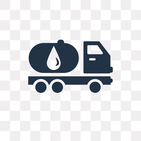Tankwagen-Vektorsymbol isoliert auf transparentem Hintergrund, Tankwagen-Transparenzkonzept kann im Web und mobil verwendet werden