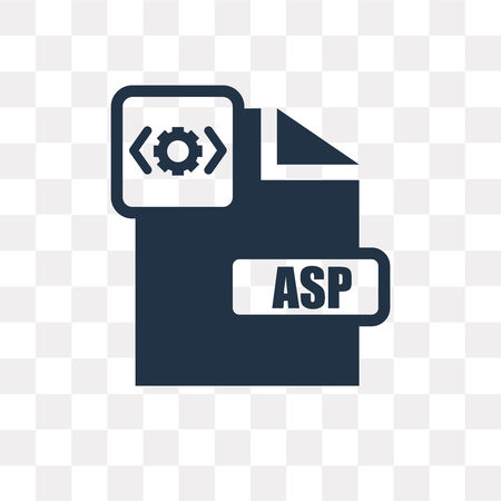 Asp vector icon isolated on transparent background, Asp transparency concept can be used web and mobile