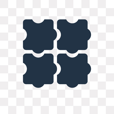 Puzzle vector icon isolated on transparent background, Puzzle transparency concept can be used web and mobile