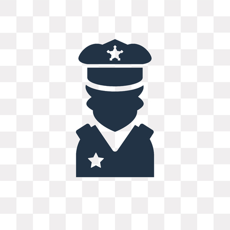 Policeman vector icon isolated on transparent background, Policeman transparency concept can be used web and mobile
