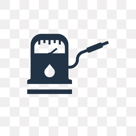 Gasoline refilling station vector icon isolated on transparent background, Gasoline refilling station transparency concept can be used web and mobile Illustration