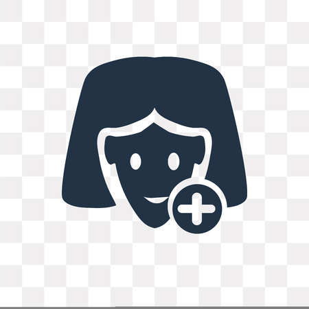 Woman In Medicine vector icon isolated on transparent background, Woman In Medicine transparency concept can be used web and mobile Illustration