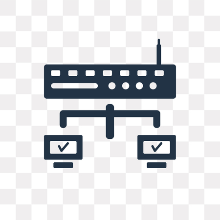 Router vector icon isolated on transparent background, Router transparency concept can be used web and mobile Illustration