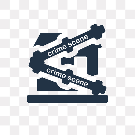 Crime scene vector icon isolated on transparent background, Crime scene transparency concept can be used web and mobile Illustration