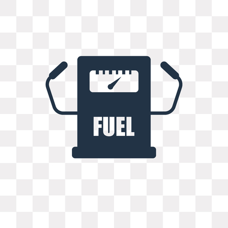 Fuel counter vector icon isolated on transparent background, Fuel counter transparency concept can be used web and mobile Vector Illustration