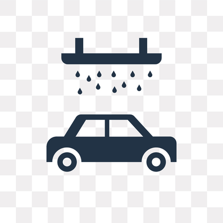Car wash vector icon isolated on transparent background, Car wash transparency concept can be used web and mobile Illustration