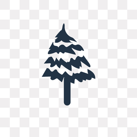 Pine vector icon isolated on transparent background, Pine transparency concept can be used web and mobile Ilustração