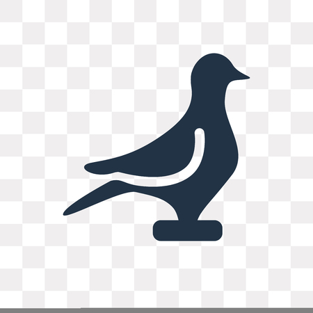 Pigeon vector icon isolated on transparent background, Pigeon transparency concept can be used web and mobile
