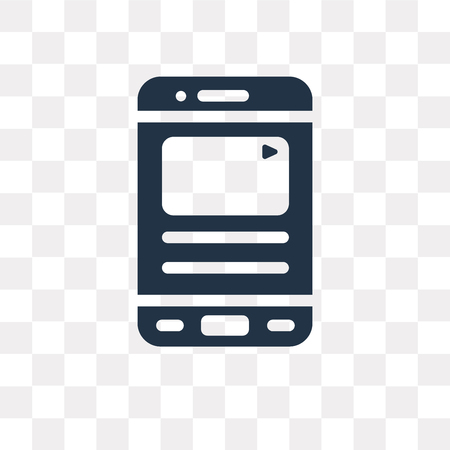 Social media vector icon isolated on transparent background, Social media transparency concept can be used web and mobile