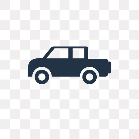 Pick up truck vector icon isolated on transparent background, Pick up truck transparency concept can be used web and mobile Illustration