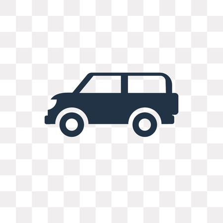 Van side view vector icon isolated on transparent background, Van side view transparency concept can be used web and mobile