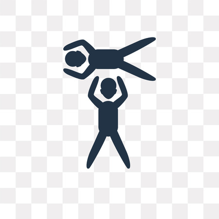 Acrobatic vector icon isolated on transparent background, Acrobatic transparency concept can be used web and mobile  イラスト・ベクター素材