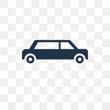 Limousine side view vector icon isolated on transparent background, Limousine side view transparency concept can be used web and mobile