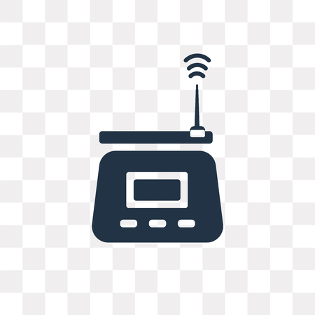 Wifi router vector icon isolated on transparent background, Wifi router transparency concept can be used web and mobile