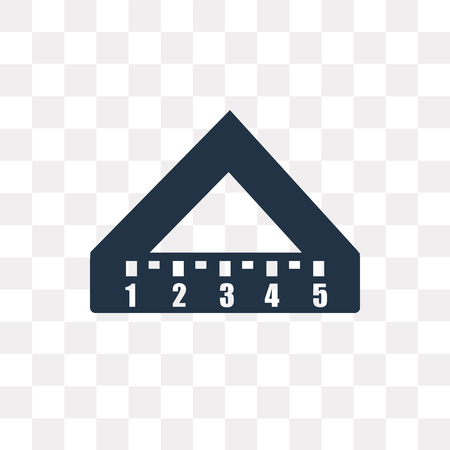 Set square vector icon isolated on transparent background, Set square transparency concept can be used web and mobile