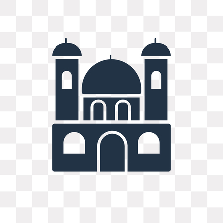 Monastery vector icon isolated on transparent background, Monastery transparency concept can be used web and mobile
