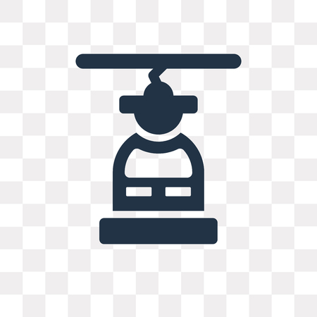 Cable car vector icon isolated on transparent background, Cable car transparency concept can be used web and mobile