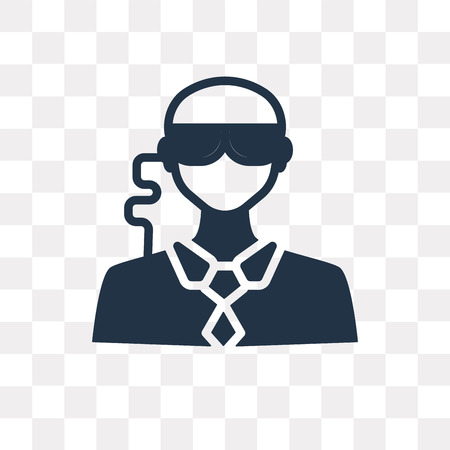 Bouncer vector icon isolated on transparent background, Bouncer transparency concept can be used web and mobile Illustration