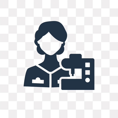 Seamstress vector icon isolated on transparent background, Seamstress transparency concept can be used web and mobile Illustration