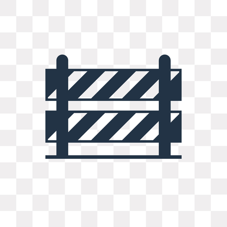 Road barrier vector icon isolated on transparent background, Road barrier transparency concept can be used web and mobile