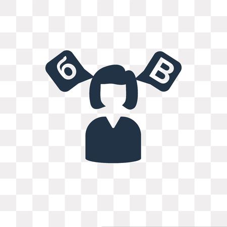 Icona di vettore di traduzione isolato su sfondo trasparente, concetto di trasparenza di traduzione può essere usato web e mobile