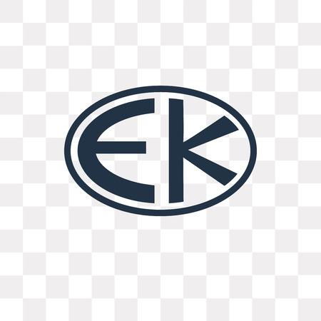 Icône de vecteur Eckankar isolé sur fond transparent, la notion de transparence Eckankar peut être utilisé web et mobile Vecteurs