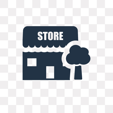 Store vector icon isolated on transparent background, Store transparency concept can be used web and mobile