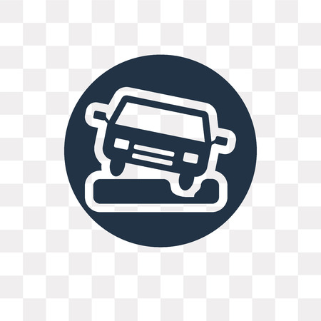 Pothole vector icon isolated on transparent background, Pothole transparency concept can be used web and mobile