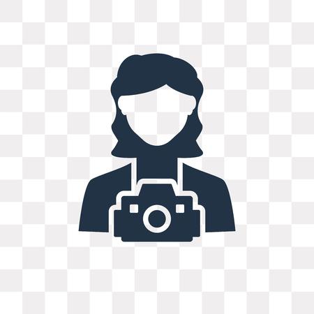 Icono de vector de fotógrafo aislado sobre fondo transparente, concepto de transparencia de fotógrafo puede ser utilizado de la web y móvil Ilustración de vector