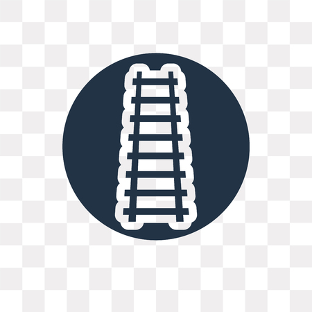 Railway vector icon isolated on transparent background, Railway transparency concept can be used web and mobile