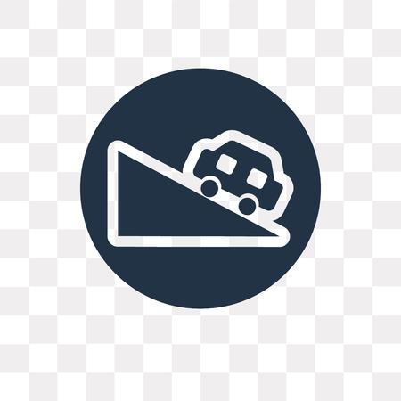 Icône de vecteur de pente isolé sur fond transparent, la notion de transparence de pente peut être utilisé web et mobile