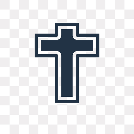 Catholicism vector icon isolated on transparent background, Catholicism transparency concept can be used web and mobile