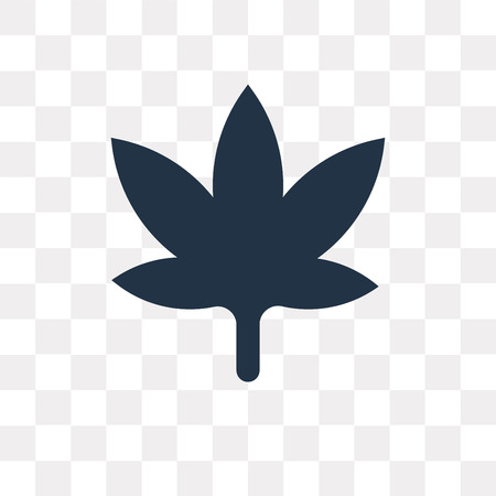Cannabis vector icon isolated on transparent background, Cannabis transparency concept can be used web and mobile Ilustração