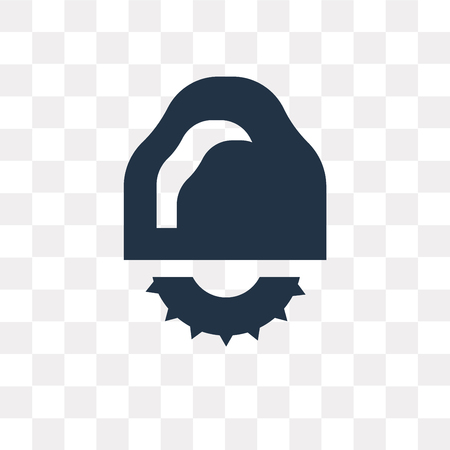 Circular saw vector icon isolated on transparent background, Circular saw transparency concept can be used web and mobile