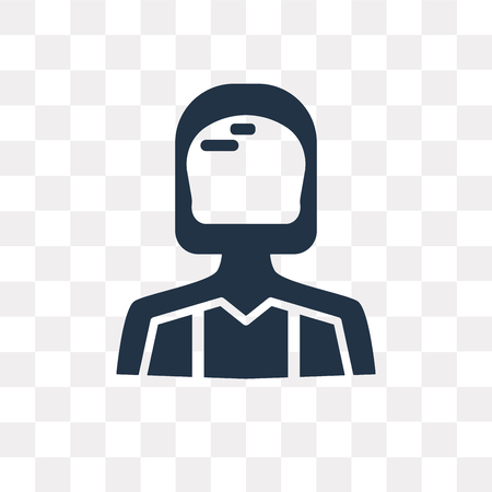 Driver vector icon isolated on transparent background, Driver transparency concept can be used web and mobile