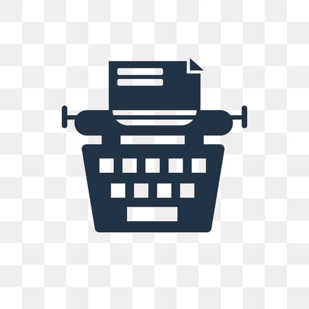 Typewriter vector icon isolated on transparent background, Typewriter transparency concept can be used web and mobile Ilustrace